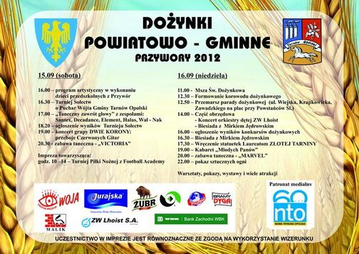 Dożynki powiatowo-gminne Przywory 2012