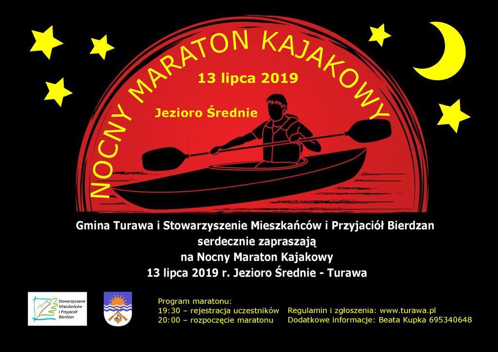 PLAKAT Nocnego Maratonu Kajakowego 2019.jpeg
