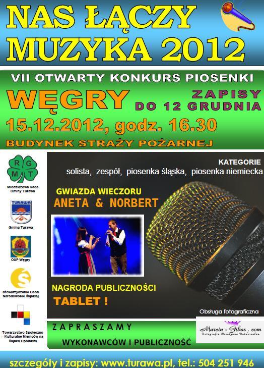 Nas Łączy Muzyka 2012, plakat