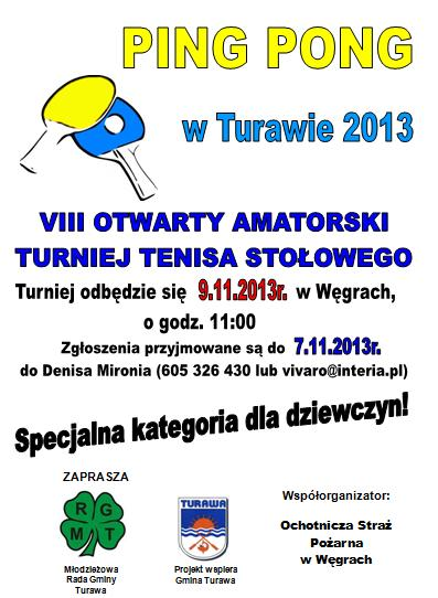PING PONG W TURAWIE 2013