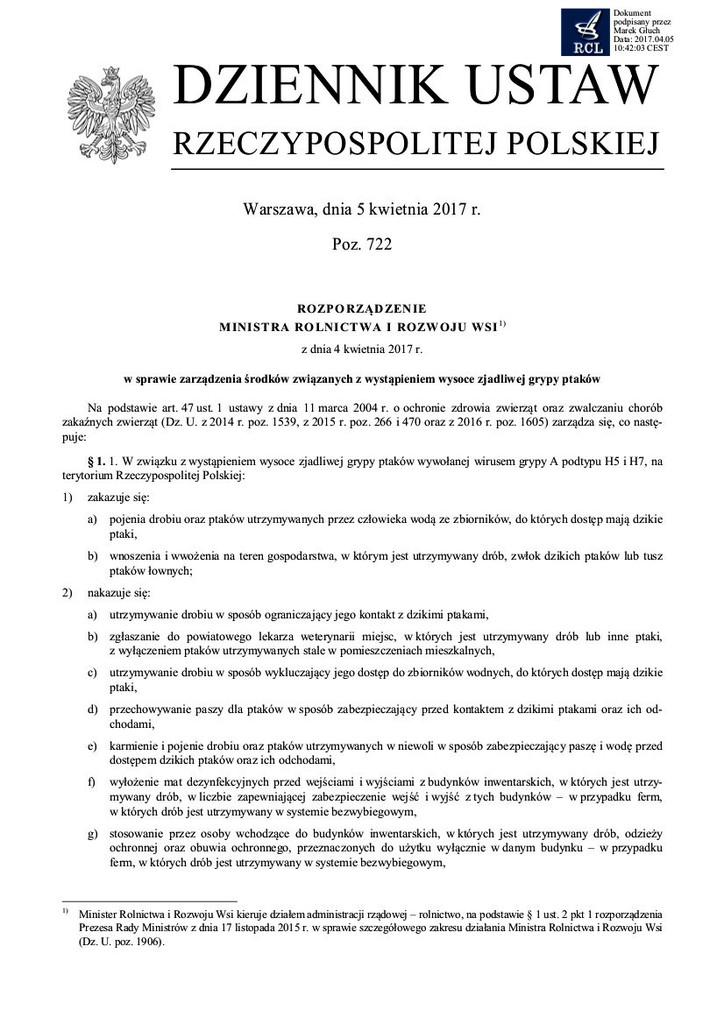 rozporządzenie grypa ptaków 2017 str.1.jpeg