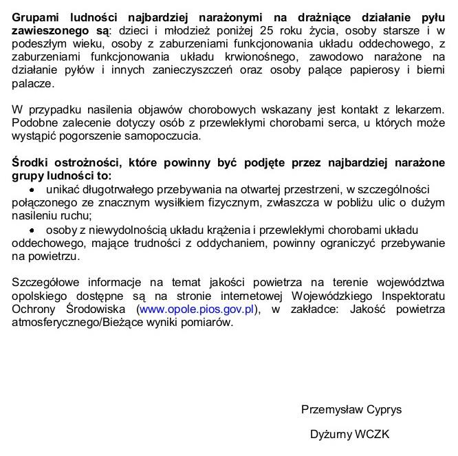 Pył zawieszony PM 10 - Alarm I stopnia 21.01.2019-str.2.jpeg