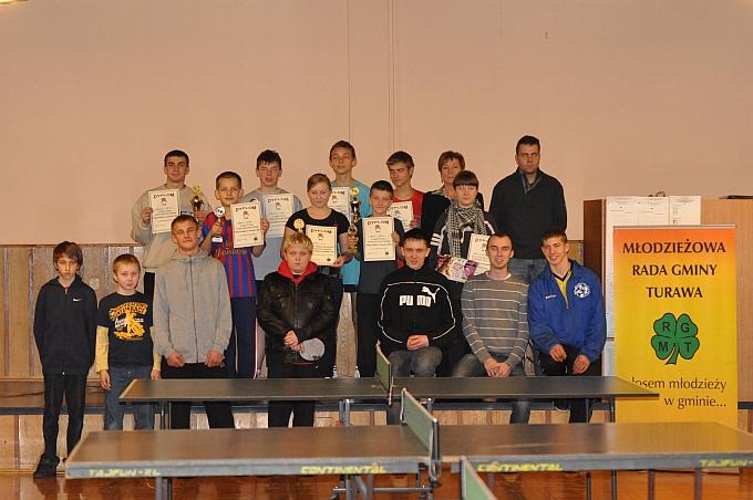 Zwycięzcy turnieju finałowego Ping Pong w Turawie 2011