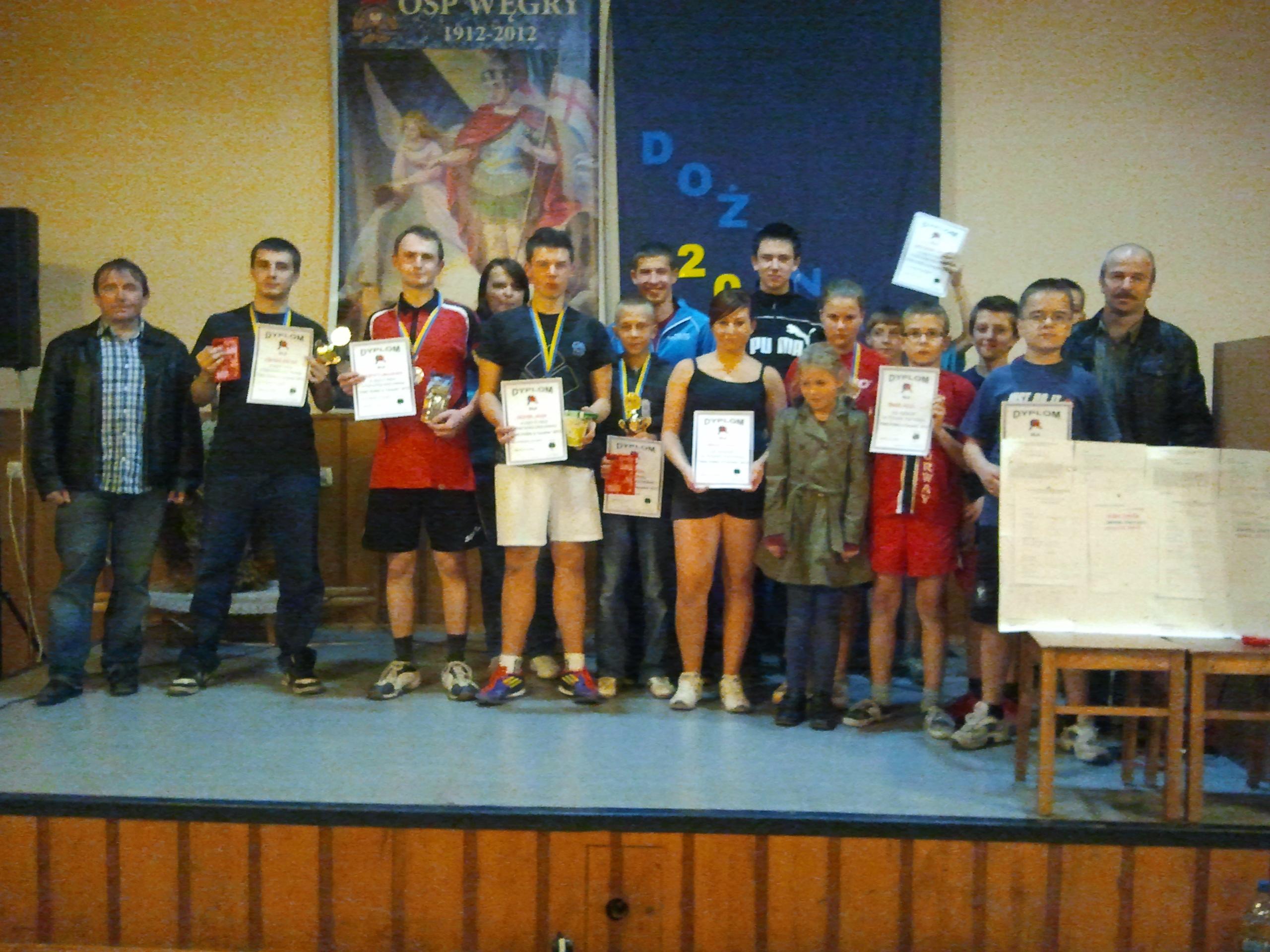 Ping Pong w Turawie 2012, finaliści 1