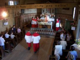 msza św. w 2005r.