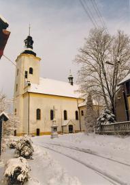 Kościół Św.Michała - w zimowej szacie.