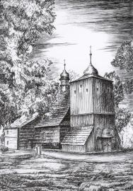 Kosciół - Zakrzów Turawski, rys. Walter Świerc