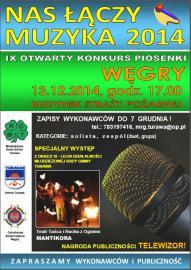 Plakat NAS ŁĄCZY MUZYKA 2014